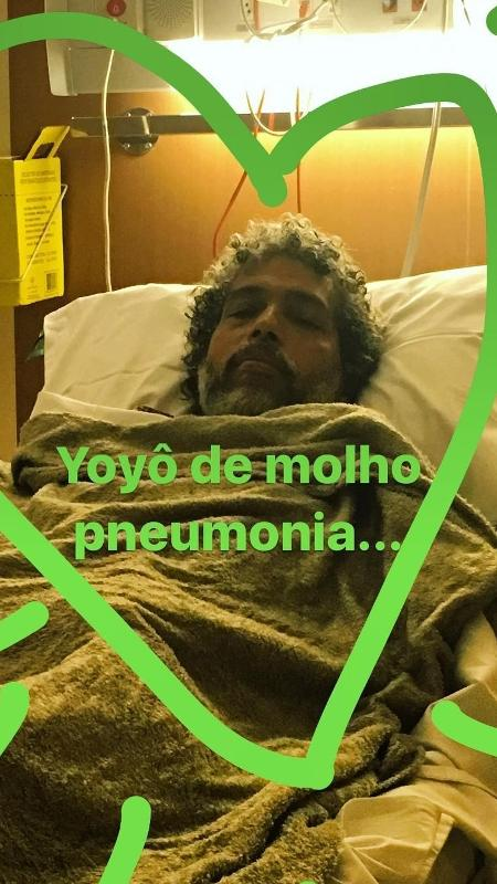 Estevão Ciavatta é internado com pneumonia - Reprodução/Instagram
