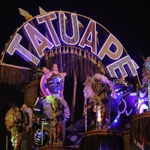 24.fev.2017 - A Acadêmicos do Tatuapé desfilou na primeira noite do Carnaval de São Paulo