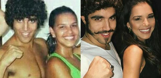 Caio Castro e Mariana Rios: antes e depois