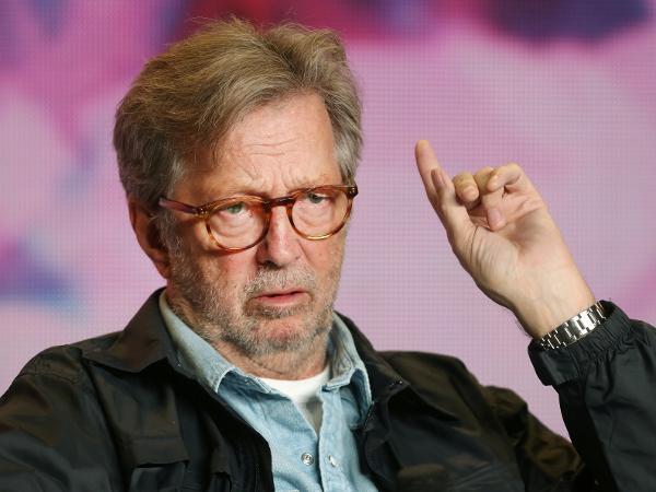 """Eric Clapton no Festival de Cinema de Toronto, onde divulgou o documentário sobre sua vida """"Life in 12 Bars"""""""