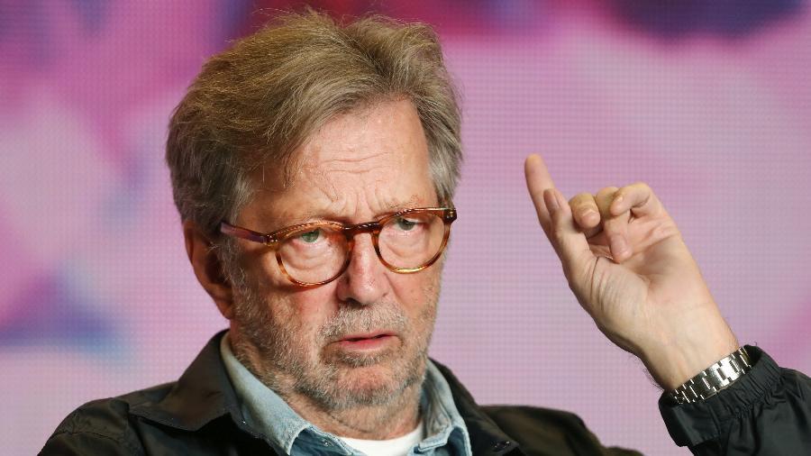 """Eric Clapton no Festival de Cinema de Toronto, onde divulgou o documentário sobre sua vida """"Life in 12 Bars"""" - Fred Thornhill/Reuters"""