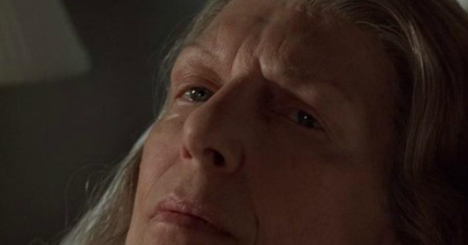 """Nancy Marchand em cena no seriado """"Família Soprano"""""""
