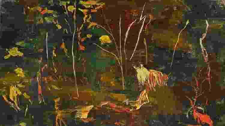 "Quadro de ""The Goldfish Pool at Chartwell"", pintado por Winston Churchill - PA - PA"