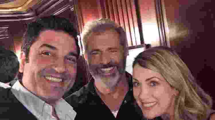 Edu Guedes, Mel Gibson e Érica Reis - Divulgação - Divulgação