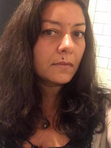 A jornalista francesa Sandra Muller - Reprodução