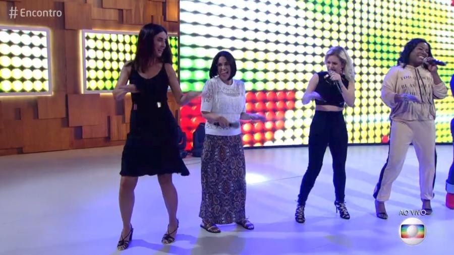 """Fátima Bernardes dança com Rouge em seu """"Encontro"""" nesta sexta-feira (16) - Reprodução/Globo"""