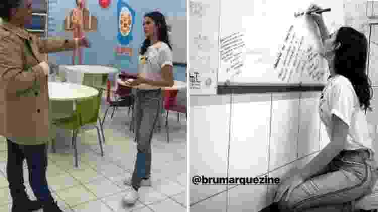 Bruna Marquezine no Instituto Neymar   - Reprodução/Instagram - Reprodução/Instagram