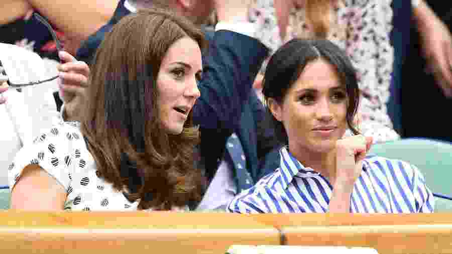 Kate e Meghan durante a final do torneio de Winbledon - Getty Images