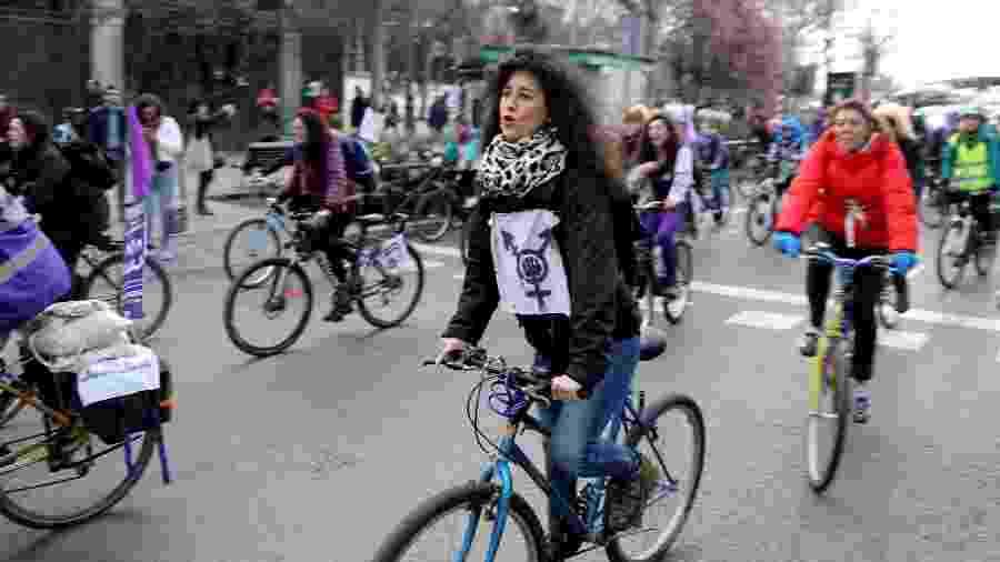 Mulheres protestam em Madri, na Espanha - Reuters