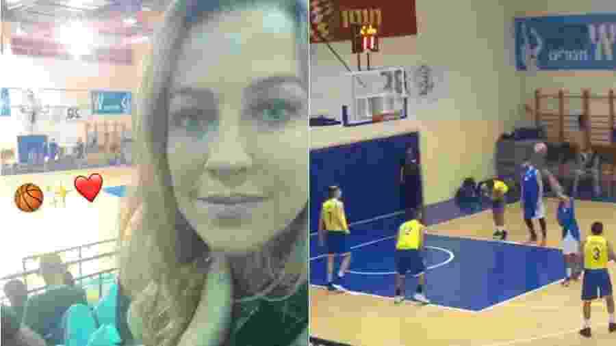 Luana Piovani assiste a jogo de basquete do namorado em Israel - Reprodução/Instagram