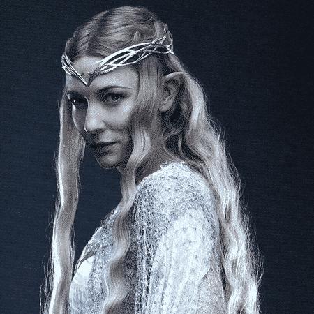 Cate Blanchett como Galadriel na trilogia O Senhor dos Anéis - Reprodução