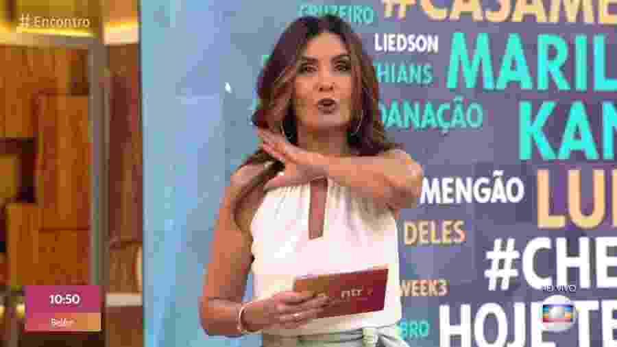 Fátima Bernardes cobria o Reveillón de Copacabana na ocasião - Reprodução/Globo