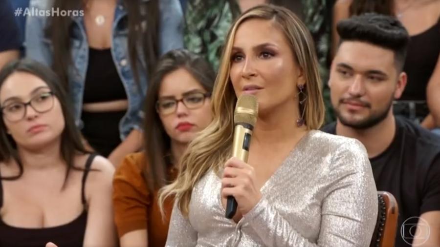 Claudia Leitte participa do Altas Horas - Reprodução/Globo