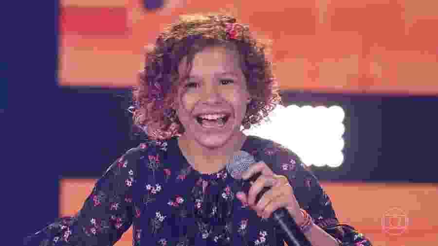 Analu Sampaio, candidata do The Voice Kids - Reprodução/TV Globo