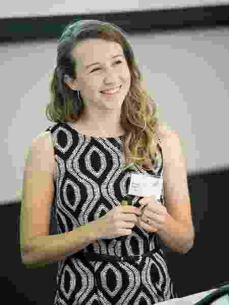 """Priscila Besen na premiação """"Future Thinker of the Year"""" - Arquivo Pessoal - Arquivo Pessoal"""