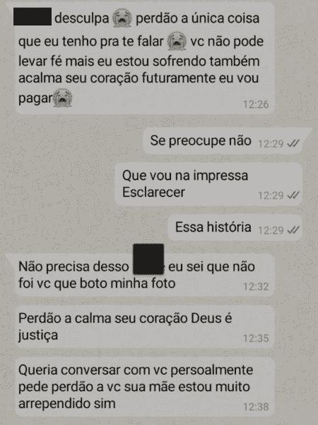Homem suspeito de estuprar cunhada troca mensagens com a namorada - Arquivo Pessoal - Arquivo Pessoal