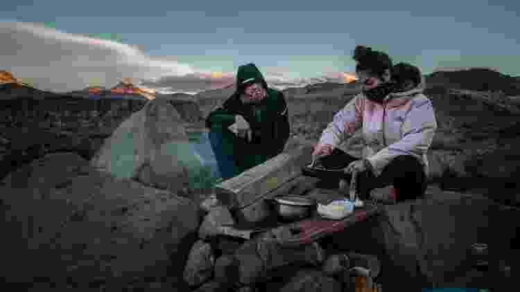 Camila Stano e o namorado, Nelson Ortiz de Zárate, acamparam na Cordilheira dos Andes - Nelson Ortiz de Zárate - Nelson Ortiz de Zárate