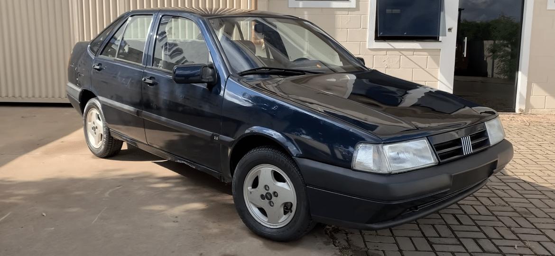 Fiat Tempra versão Prata 1991/1992 nunca foi emplacado e saiu da fábrica para servir como ferramenta de ensino para estudantes de mecânica no Senai São Paulo - Reprodução