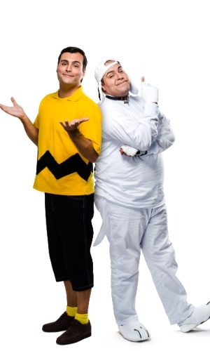 O ator Tiago Abravanel interpreta Snoopy e Leandro Luna vive o protagonista Charlie Brown no musical