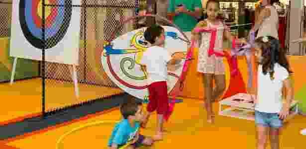 Ginástica artística é um dos esportes da Arena Rio Kids, em Brasília - Divulgação