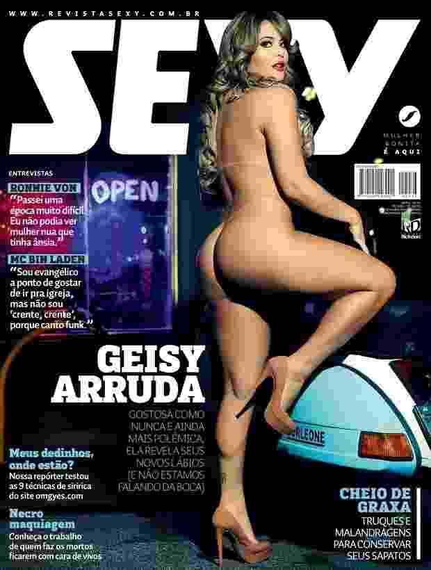28.mar.2016 - A revista sexy divulgou nesta segunda-feira a capa com a ex-A Fazenda Geisy Arruda - Divulgação