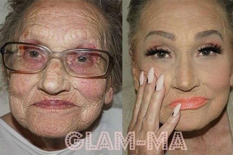Lisa Lilly e sua transformação feita pela neta maquiadora