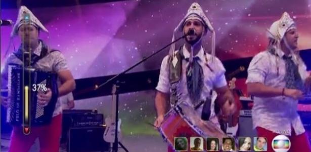 """Banda Fulô de Mandacaru na repescagem do """"Superstar"""" - Reprodução"""