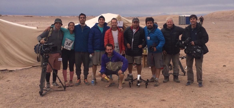 """Equipe do """"Planeta Extremo"""" no deserto do Atacama, no Chile - Divulgação/TV Globo"""