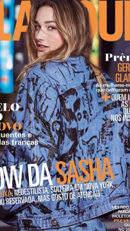"""Sasha posa para sua primeira capa de revista na edição de março da """"Glamour"""" - Reprodução/Instagram"""