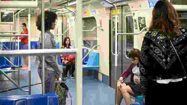 """""""Malhação: Viva a Diferença"""" teve sequência gravada no metrô de São Paulo - Ramon Vasconcelos/Rede Globo/Divulgação - Ramon Vasconcelos/Rede Globo/Divulgação"""