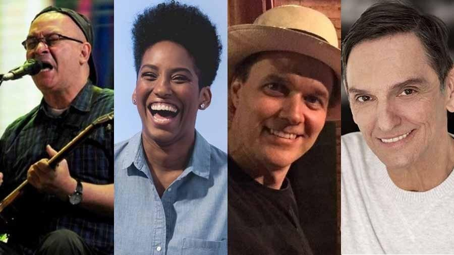 Herbert Vianna, Mahmundi, João Suplicy e Paulo Miklos - Montagem/UOL