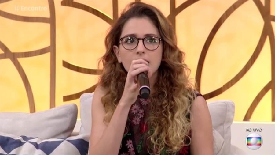 """Carol Duarte no """"Encontro com Fátima Bernardes"""" - Reprodução/Globo"""