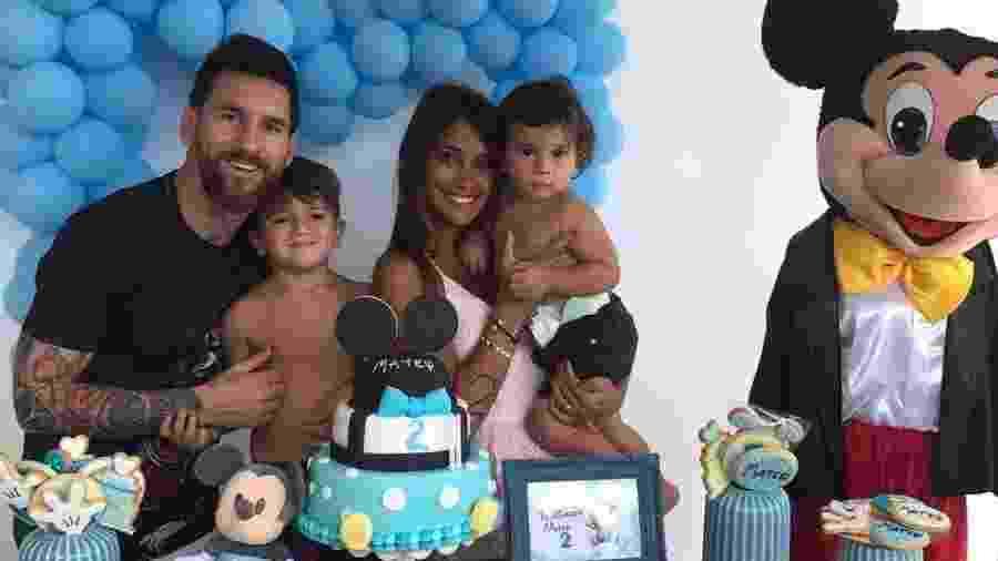 Lionel Messi comemora aniversário do filho Mateo com festa simples - Reprodução/Instagram/leomessi