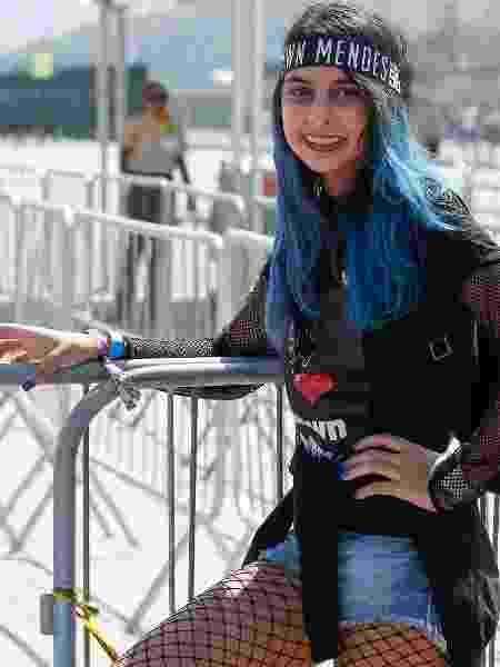 De Manaus para o Rio, Bruna Rodrigues, 15, veio para ver Shawn Mendes e pensou em um visual para chamar a atenção do ídolo  - Marco Antonio Teixeira/ UOL - Marco Antonio Teixeira/ UOL