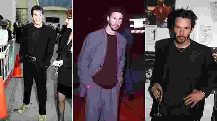 Keanu Reeves e seu uniforme em 1992, 1997 e 2002 - Getty Images - Getty Images