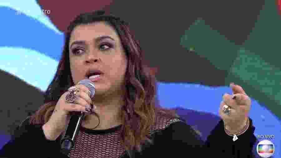 """Preta Gil fala no """"Encontro"""" dos ataques preconceituosos que sofre na internet  - Reprodução/TV Globo"""