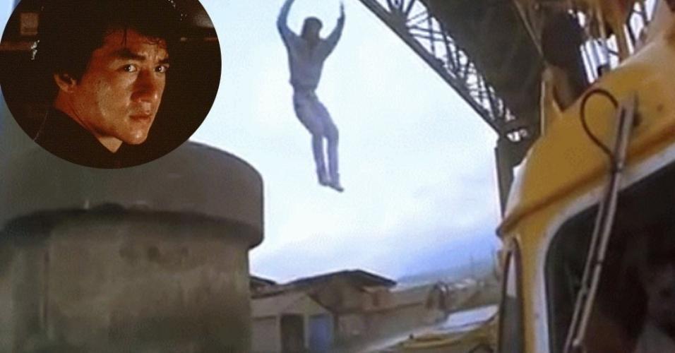 """Jackie Chan em cena de """"Arrebentando em Nova York"""" (1995)"""