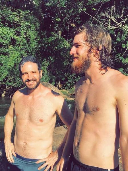 Caco Ciocler e o filho, Bruno Ciocler - Reprodução/Instagram