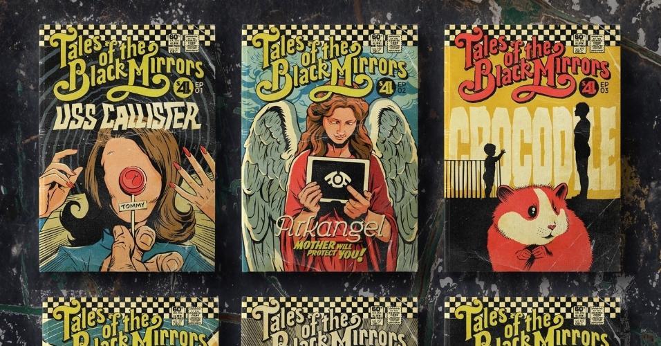 """Butcher Billy criou pôsteres para os episódios de """"Black Mirror"""""""