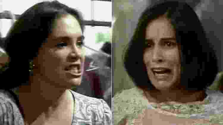 """Raquel e Maria de Fátima discutem em """"Vale Tudo"""" - Montagem/UOL/Reprodução/TV Globo - Montagem/UOL/Reprodução/TV Globo"""