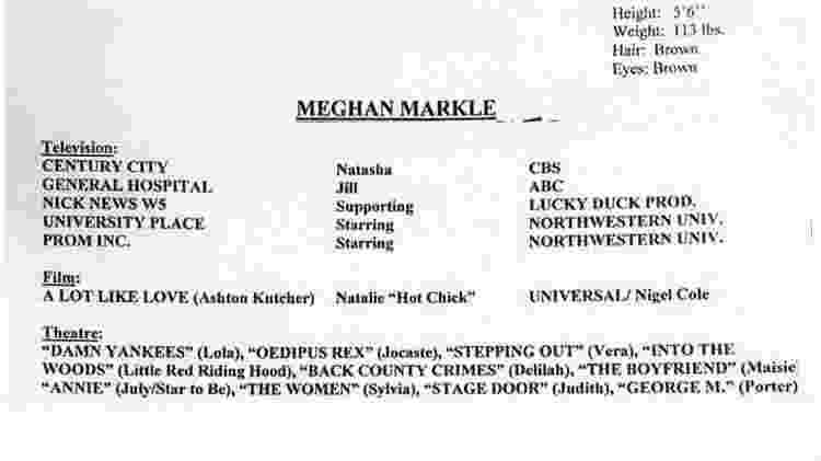 CV Meghan 1 - Reprodução - Reprodução