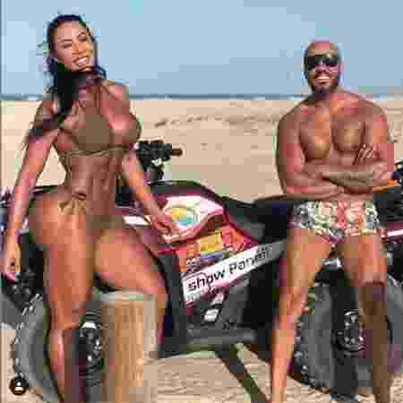 Gracyanne e Belo em Jericoacoara - Reprodução/Instagram