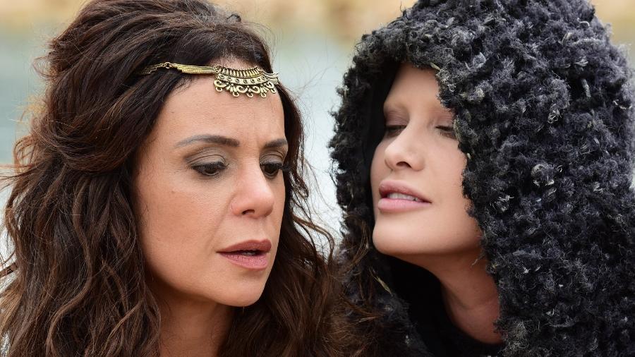 "Vanessa Gerbelli e Mayana Moura em cena de ""Jesus"" - Blad Meneghel/ Record TV"