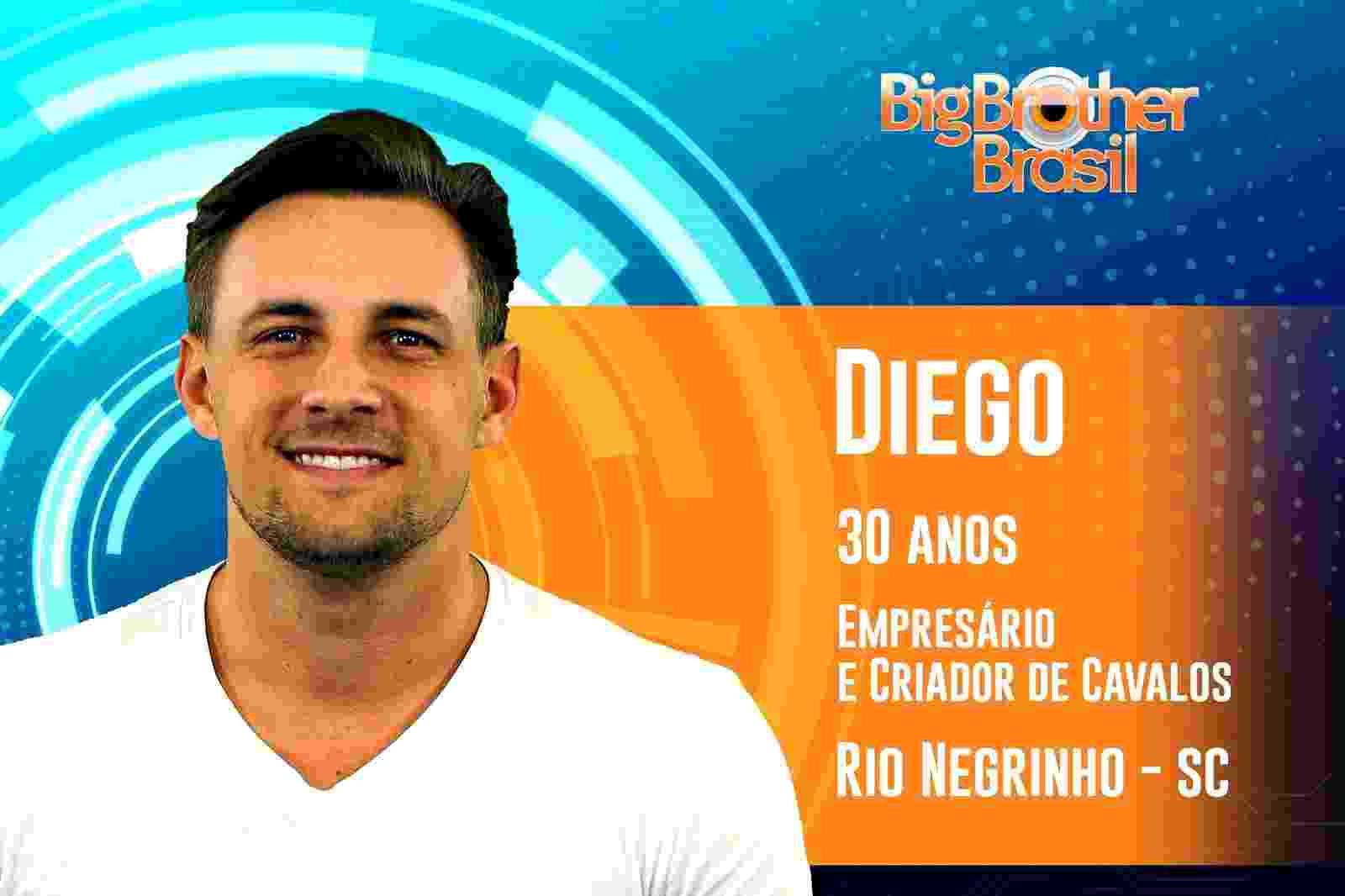"""Diego é o quarto participante anunciado do """"BBB19"""" - Reprodução/TvGlobo"""