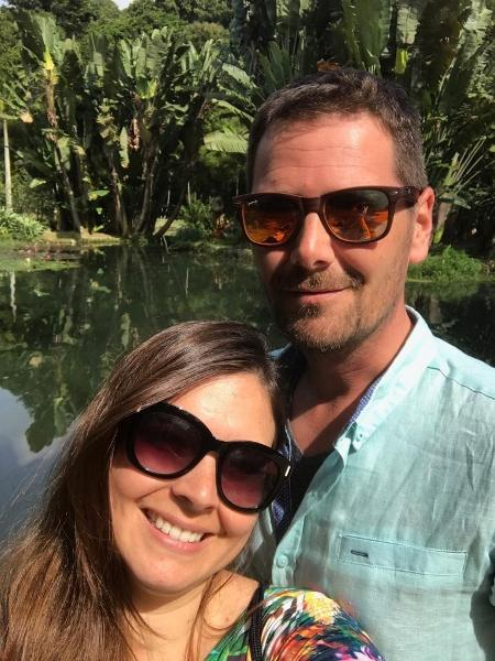 Calie Arantes e Jason Widawski: pedido de casamento no Pão de Açúcar - Arquivo Pessoal