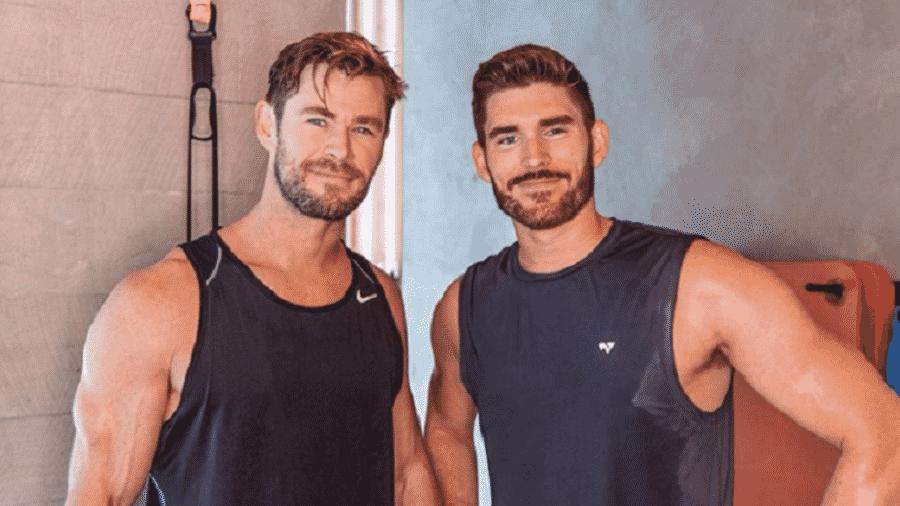 Chris Hemsworth e o empresário Erik Conover - Reprodução/Instagram