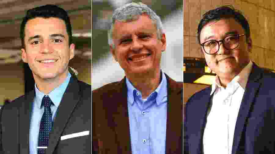 O repórter Anthony Wells e os comentaristas Fernando Molica e Fernando Nakagawa, novos contratados da CNN Brasil - Montagem/UOL/Divulgação/CNN Brasil