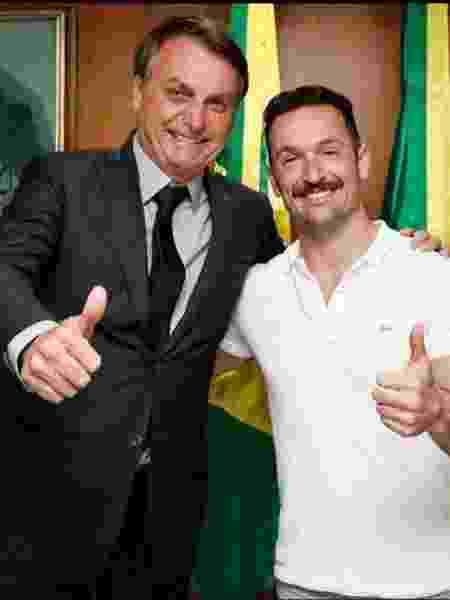 Jair Bolsonaro em encontro com Diego Hypolito - Reprodução/Facebook