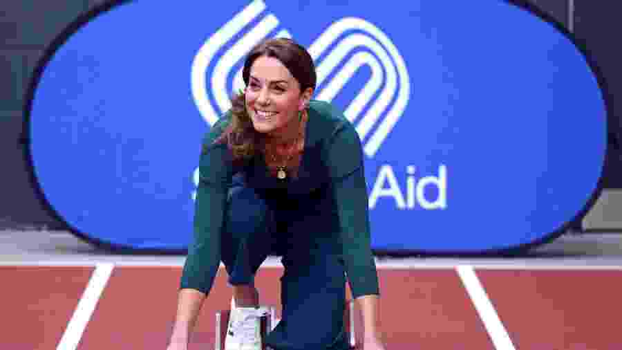 Kate Middleton durante um evento esportivo em Londres - Getty Images