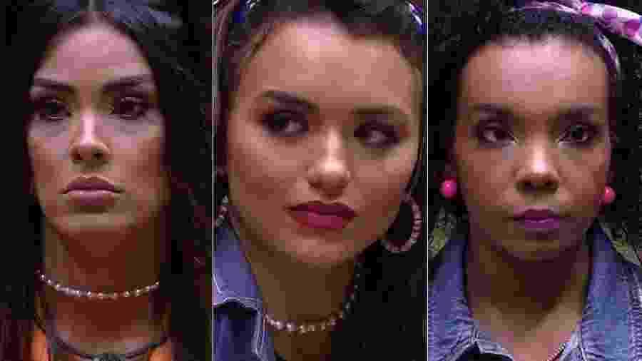 Ivy, Rafa e Thelma estão no paredão - Reprodução/TV Globo